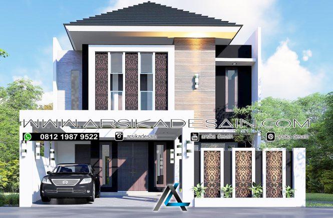 desain rumah 10x20 meter - 2 lantai