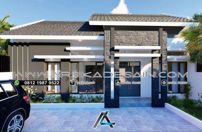 desain rumah 12x10,5 meter