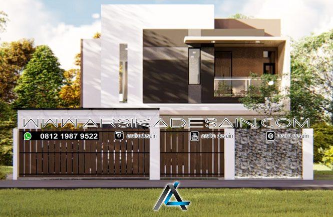 desain rumah 12x17 meter - 2 lantai