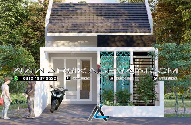 desain rumah 5x11,5 meter