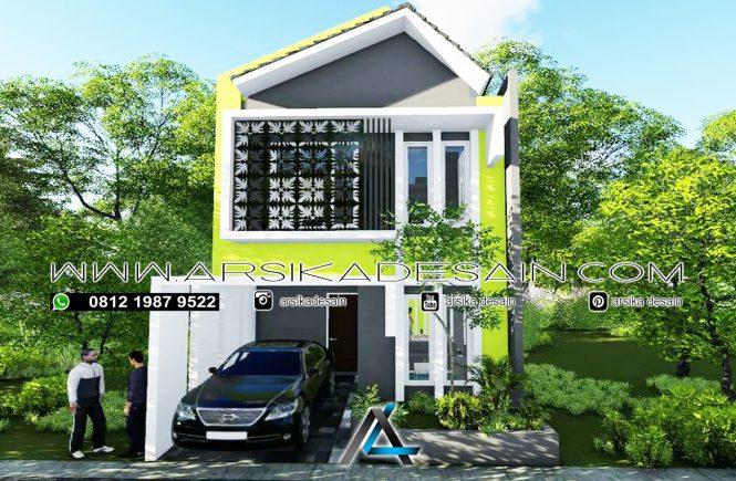 desain rumah 6x12 meter - 2 lantai