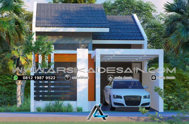 desain rumah 6x13 meter