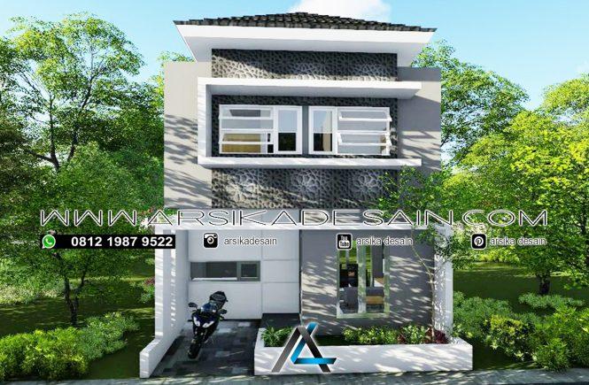 desain rumah 6x7 meter - 2 lantai
