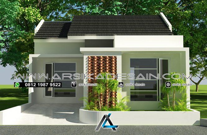 desain rumah 7,5x11 meter