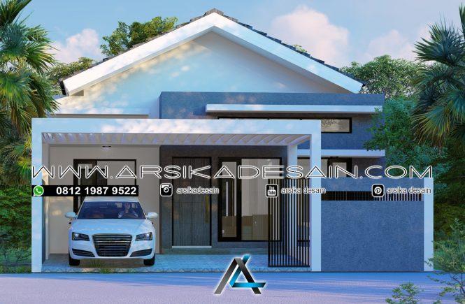 desain rumah 8,5x16 meter