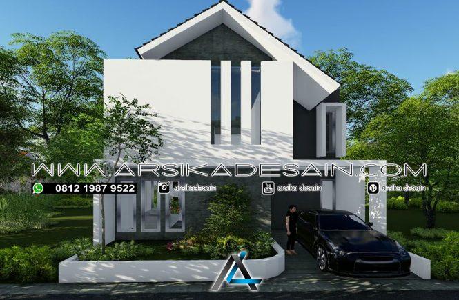 desain rumah 8X15 2 lantai