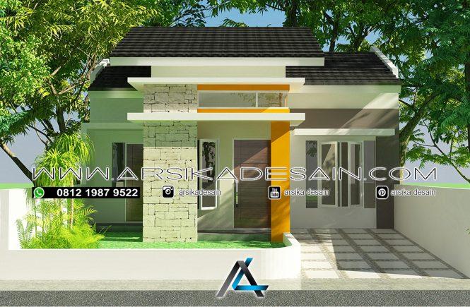 desain rumah 8x14 meter