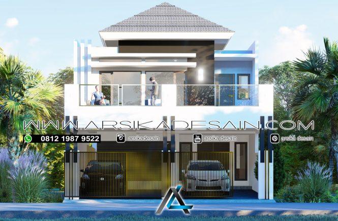 desain rumah 8x18 meter - 2 lantai