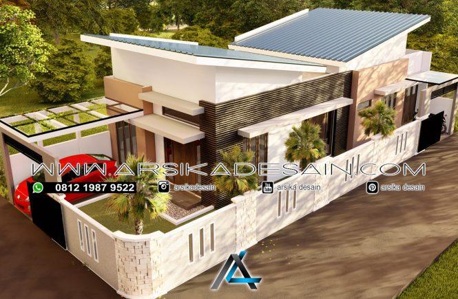 desain rumah 9,5x22,5 meter