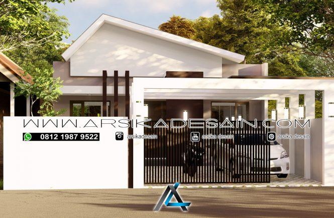 desain rumah 9,5x30 meter