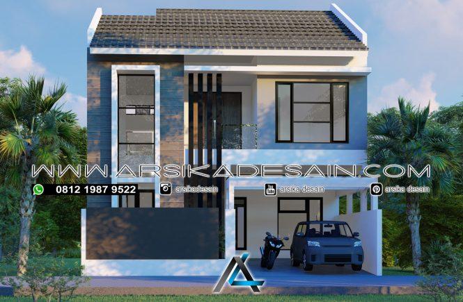 desain rumah 9x18 meter- 2 lantai