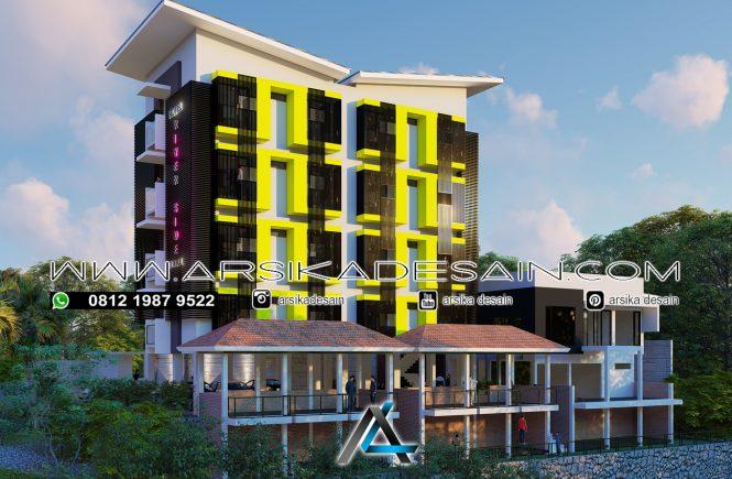 desain hotel 4 lantai