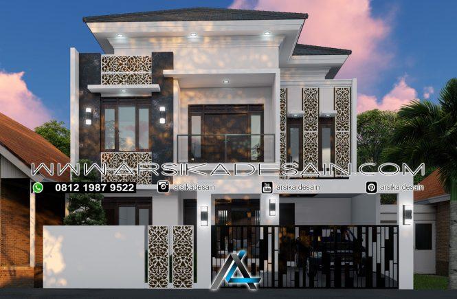 desain rumah 10,5x21 meter