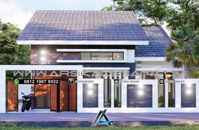 desain rumah 10x24 meter