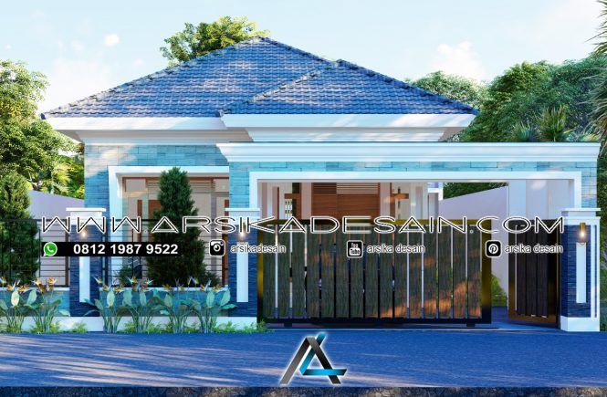 desain rumah 12x28 meter