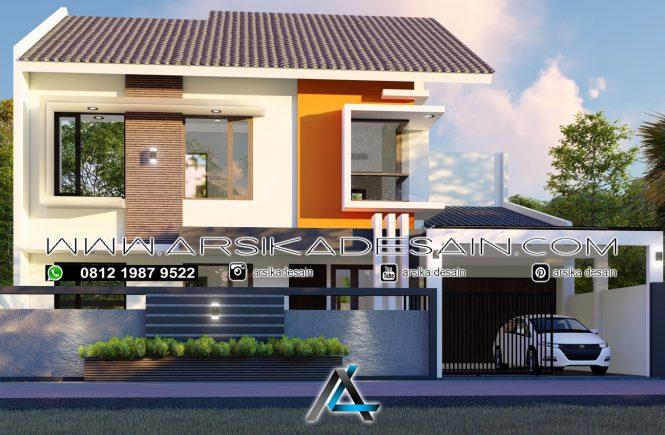 desain rumah 14x14 meter
