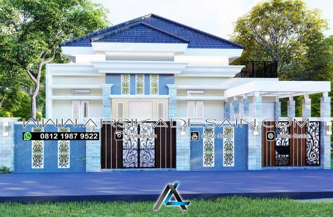 desain rumah 14x35 meter
