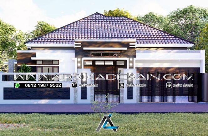 desain rumah 19x20 meter