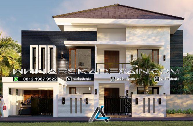 desain rumah 20x20 meter - 2 lantai