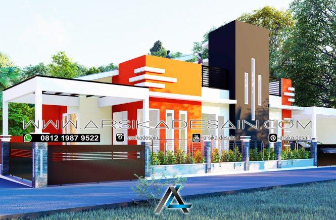 desain rumah 24x8 meter