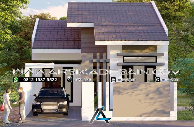 desain rumah 7,5x12 meter