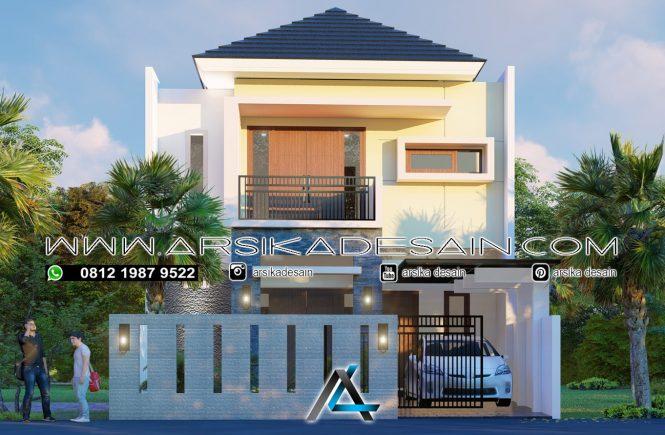 desain rumah 8x15 meter - 2 lantai