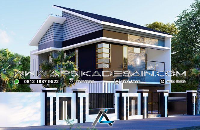 desain rumah 8x20 meter