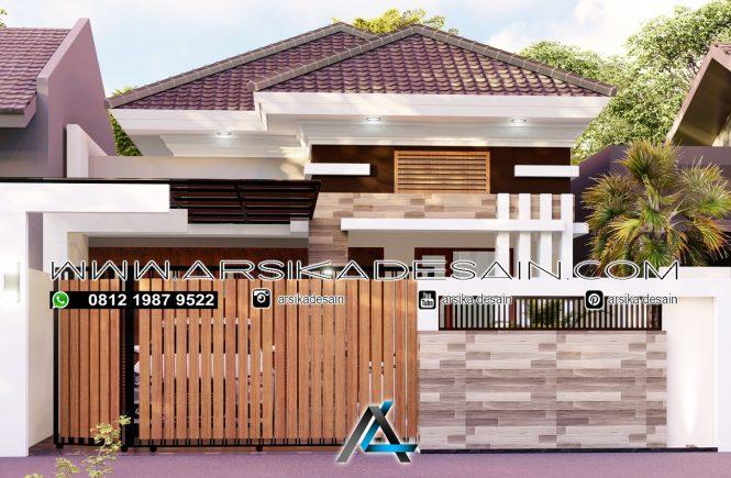 desain rumah 8x25 meter
