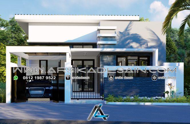 desain rumah 9x16,5 meter