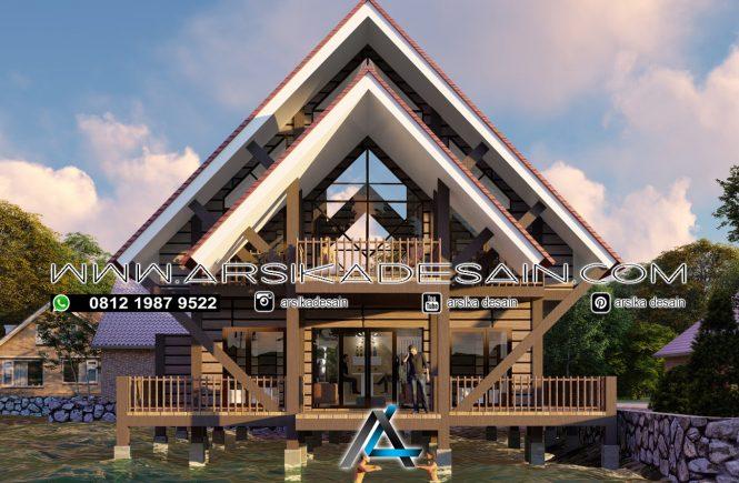 desain rumah panggung 14x20 meter