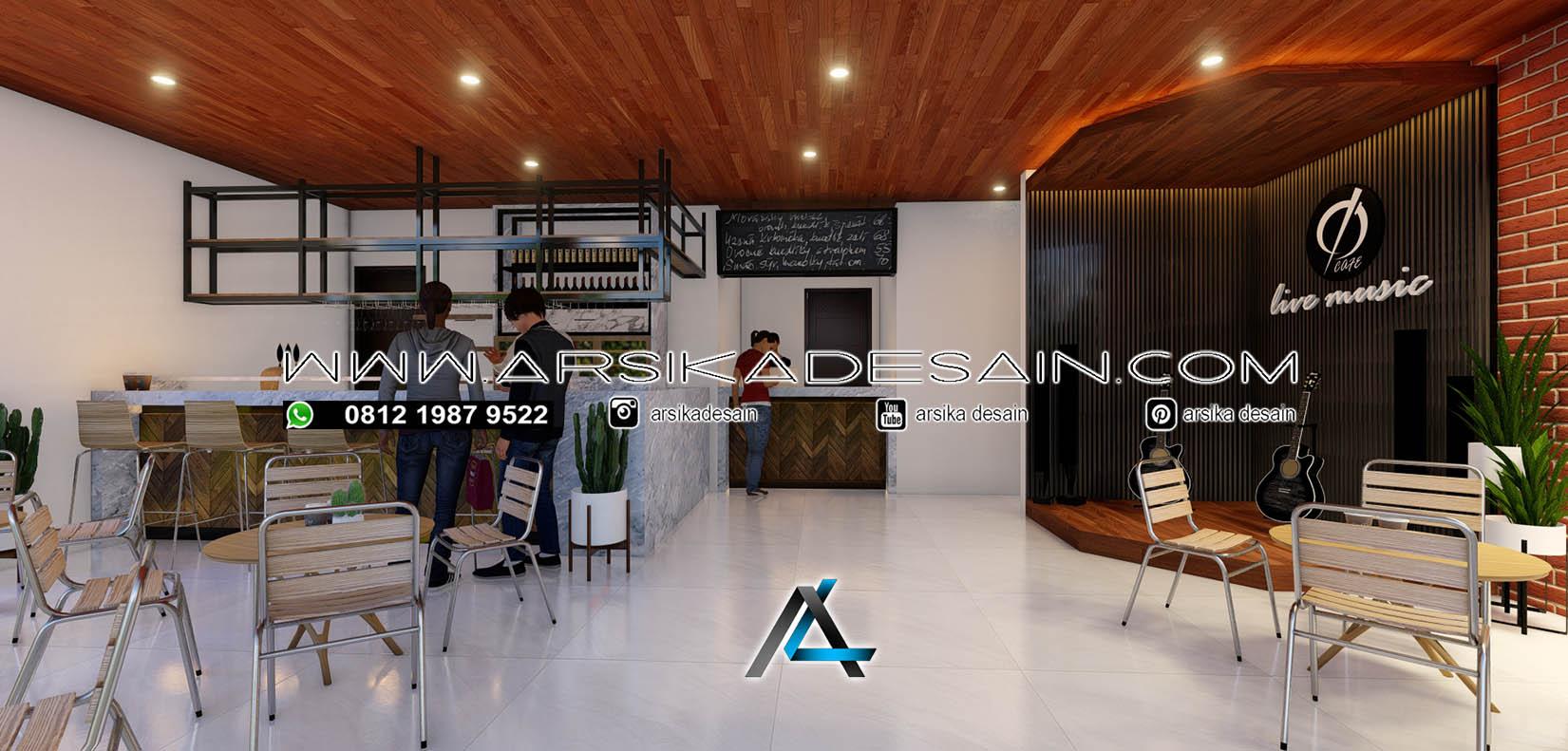 DESAIN INTERIOR CAFE 22,5 x 44 meter Pemilik : Bapak Dian ...